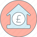 bank, house, money, pound icon