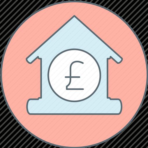 bank, house, money, pound icon