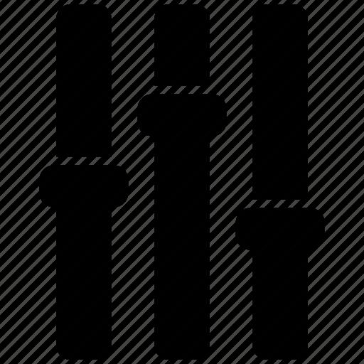 equilizer, sound, volume icon