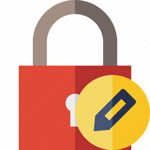access, edit, lock, password, protection, secure icon