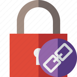 access, link, lock, password, protection, secure icon