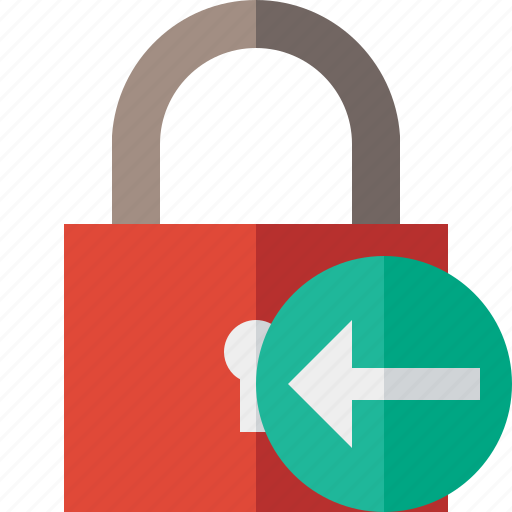 access, lock, password, previous, protection, secure icon