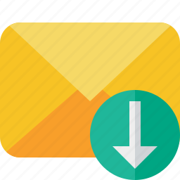 communication, download, email, letter, mail, message icon