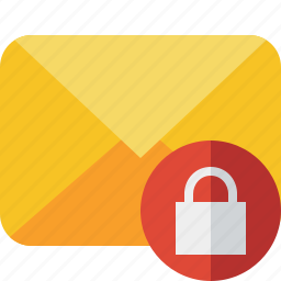 communication, email, letter, lock, mail, message icon