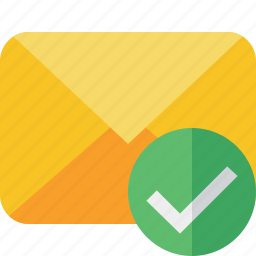 communication, email, letter, mail, message, ok icon