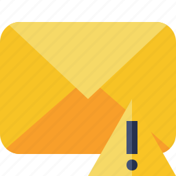 communication, email, letter, mail, message, warning icon