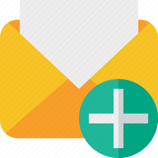 add, communication, email, letter, mail, message, read icon