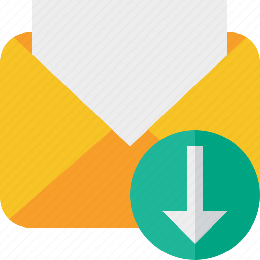 communication, download, email, letter, mail, message, read icon