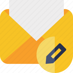 communication, edit, email, letter, mail, message, read icon