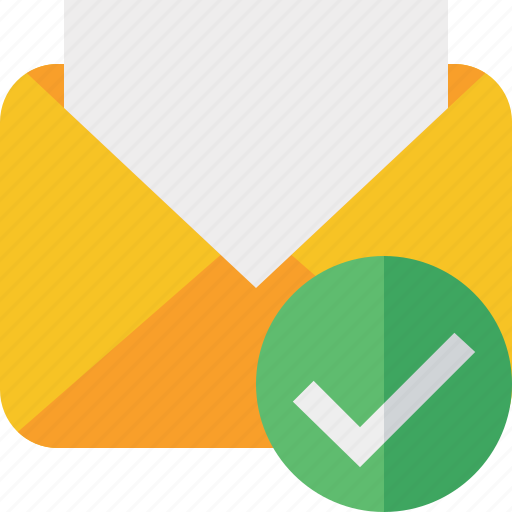 communication, email, letter, mail, message, ok, read icon