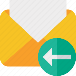 communication, email, letter, mail, message, previous, read icon