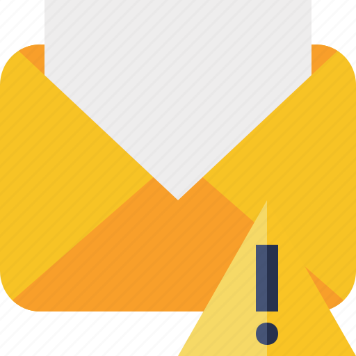 communication, email, letter, mail, message, read, warning icon