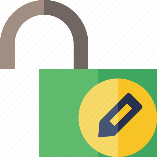 access, edit, password, protection, secure, unlock icon