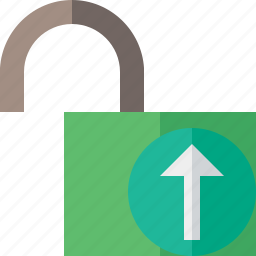 access, password, protection, secure, unlock, upload icon