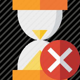 alarm, cancel, clock, timer, wait, watch icon
