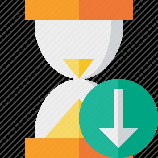alarm, clock, download, timer, wait, watch icon