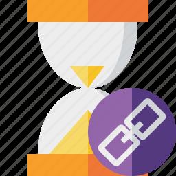 alarm, clock, link, timer, wait, watch icon