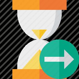 alarm, clock, next, timer, wait, watch icon