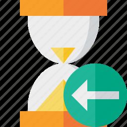 alarm, clock, previous, timer, wait, watch icon