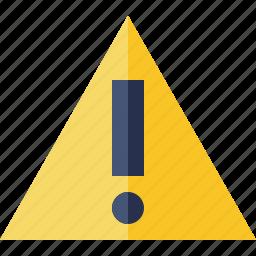 alert, caution, error, exclamation, warning icon