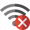 cancel, connection, fi, internet, wi, wifi, wireless icon