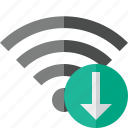 connection, download, fi, internet, wi, wifi, wireless icon