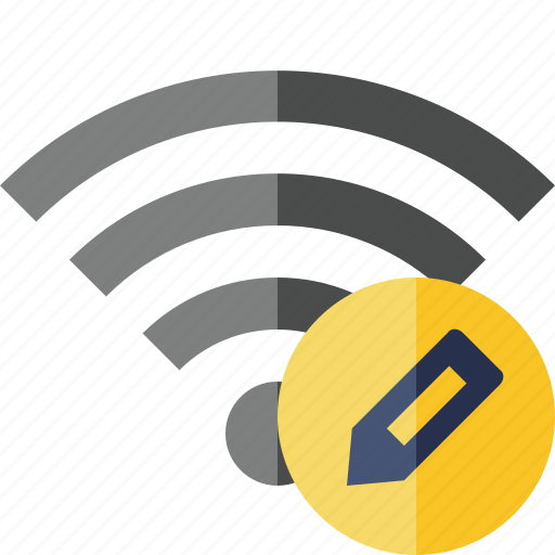 connection, edit, fi, internet, wi, wifi, wireless icon