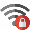 connection, fi, internet, lock, wi, wifi, wireless icon