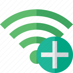 add, connection, fi, green, internet, wi, wireless icon