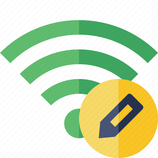 connection, edit, fi, green, internet, wi, wireless icon