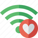 connection, favorites, fi, green, internet, wi, wireless icon