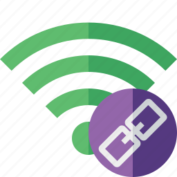 connection, fi, green, internet, link, wi, wireless icon