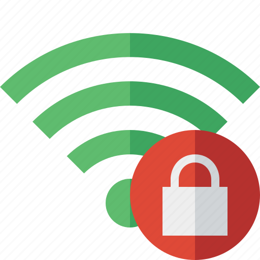 connection, fi, green, internet, lock, wi, wireless icon