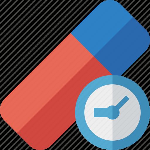 Clean, clock, delete, erase, eraser, remove, rubber icon - Download on Iconfinder