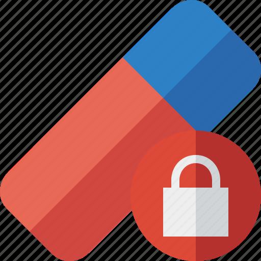 Clean, delete, erase, eraser, lock, remove, rubber icon - Download on Iconfinder