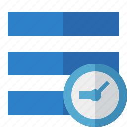 clock, list, menu, nav, navigation, options, toggle icon