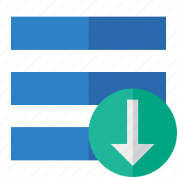 download, list, menu, nav, navigation, options, toggle icon