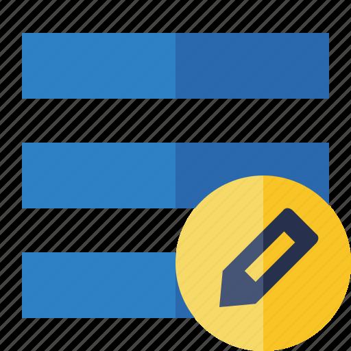 edit, list, menu, nav, navigation, options, toggle icon
