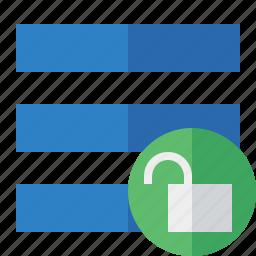 list, menu, nav, navigation, options, toggle, unlock icon