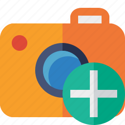 add, camera, photo, photocamera, photography, picture, snapshot icon