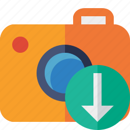 camera, download, photo, photocamera, photography, picture, snapshot icon