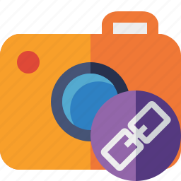 camera, link, photo, photocamera, photography, picture, snapshot icon