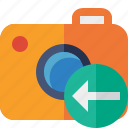 camera, photo, photocamera, photography, picture, previous, snapshot icon