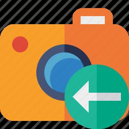 camera, photo, photocamera, photography, picture, previous, snapshot icon