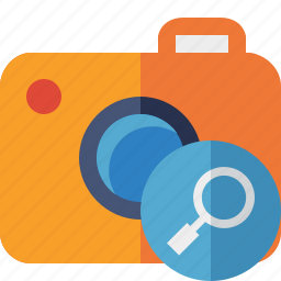 camera, photo, photocamera, photography, picture, search, snapshot icon