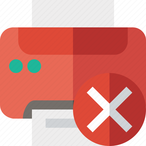 Cancel, document, paper, print, printer, printing icon - Download on Iconfinder