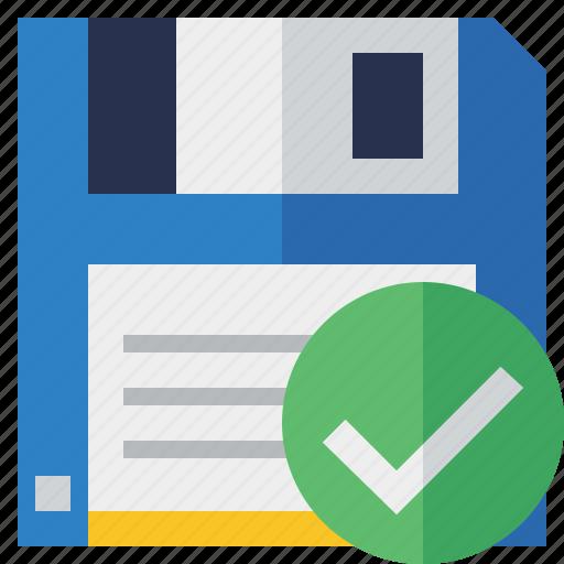 backup, data, disk, download, file, ok, save icon