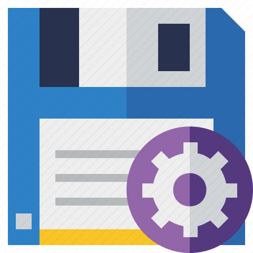 backup, data, disk, download, file, save, settings icon