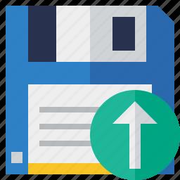 backup, data, disk, download, file, guardar, save, upload icon