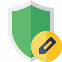 edit, protection, safety, secure, security, shield icon